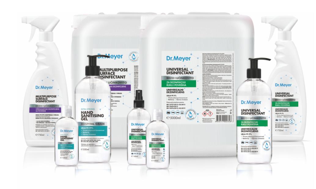Dr. Meyer dezinficijensi za ruke i površine za profesionalnu, osobnu i kućnu upotrebu